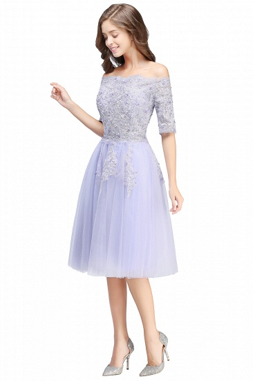 BMbridal A-line Short Sleeves Tulle Lace Flower Girl Dress_8
