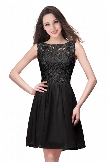 Affordable Chiffon Lace Short Bridesmaid Dresses with Ruffle In Stock_7