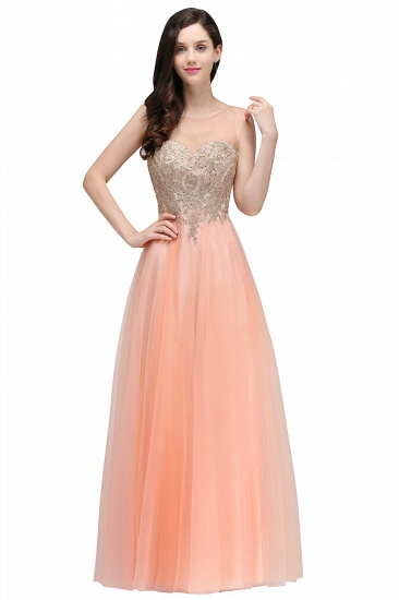 BMbridal Gorgeous Illussion Scoop Long Prom Dress With Lace Appliques_1