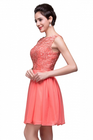 Affordable Chiffon Lace Short Bridesmaid Dresses with Ruffle In Stock_14
