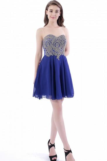 BMbridal Lace Chiffon Applique Short Prom Dress_5