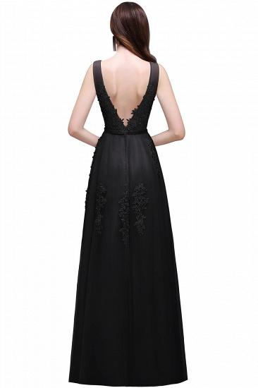BMbridal V-Neck Sleeveless Lace Appliques Bridesmaid Dress_8
