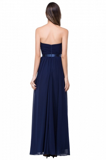 BMbridal Affordable Chiffon Strapless Navy Bridesmaid Dress with Ruffle In Stock_6