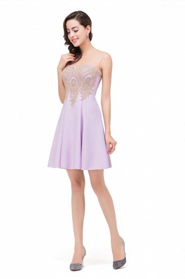 BMbridal Short Applique Sleeveless Prom Homecoming Dress_11
