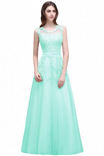 BMbridal A-line Floor-length Tulle Prom Dress with Appliques_9