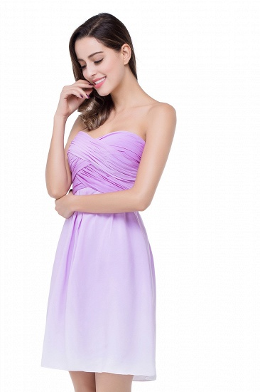 BMbridal A-line Strapless Chiffon Bridesmaid Dress with Draped_5