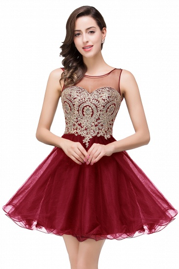 BMbridal Short A-line Sleeveless Little Black Dress Online_1
