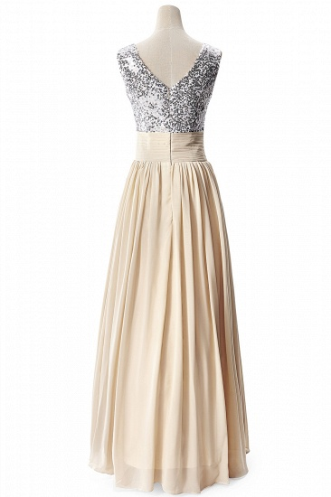 BMbridal A-line V-neck Chiffon Party Dress With Sequined_7