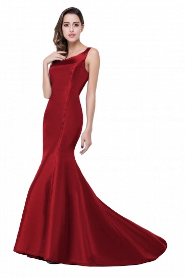 BMbridal One Shoulder Red Mermaid Long Party Gowns_1