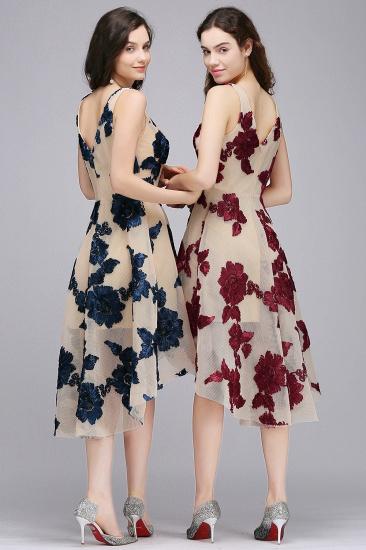BMbridal Short Appliques Tulle V Neck Prom Dress_4