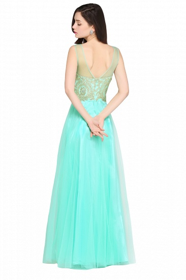 BMbridal Gorgeous Illussion Scoop Long Prom Dress With Lace Appliques_9