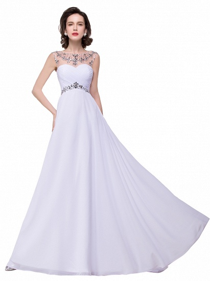 BMbridal A-line Sweetheart Chiffon Evening Dress With Crystal_10