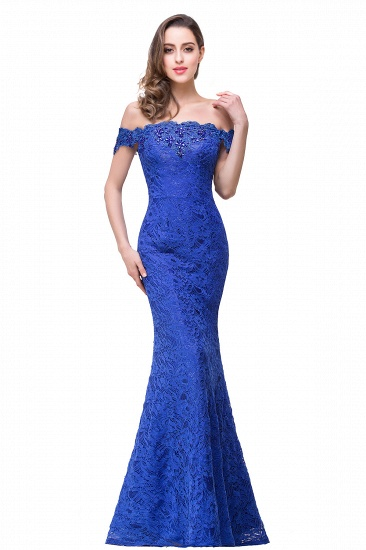 Off-the-Shoulder Lace Mermaid Prom Dress Long Evening Party Gowns Online_7