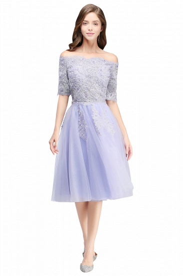BMbridal A-line Short Sleeves Tulle Lace Flower Girl Dress_6