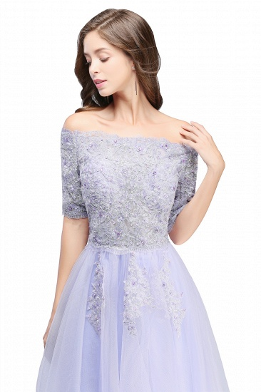BMbridal A-line Short Sleeves Tulle Lace Flower Girl Dress_5