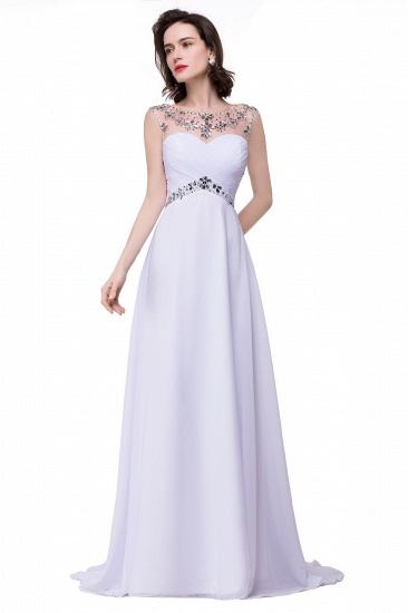 BMbridal A-line Sweetheart Chiffon Evening Dress With Crystal_7