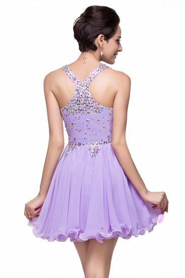 BMbridal Chic Crisscross-straps Crystal Beads Ruffle Chiffon Sweetheart Short Prom Dress_9