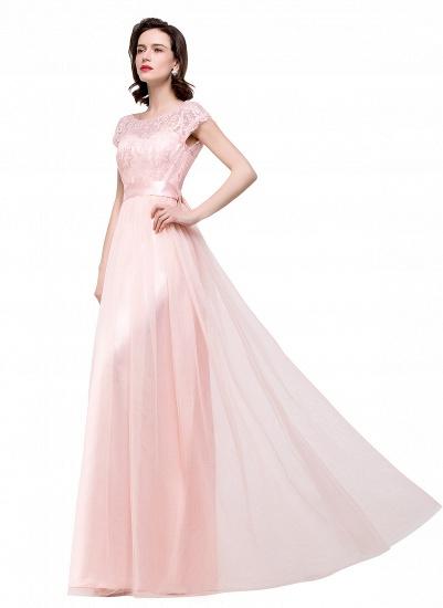 BMbridal Short Sleeve Long Lace Bridesmaid Dresses_10