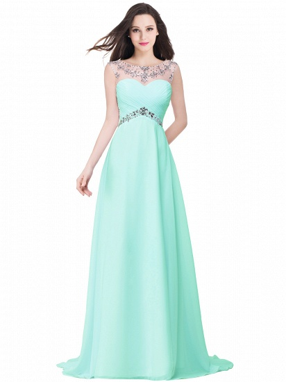 BMbridal A-line Sweetheart Chiffon Evening Dress With Crystal_4