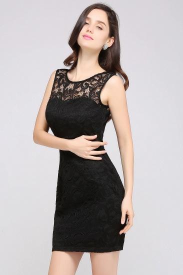 BMbridal Sleeveless Bodycon Black Lace Short Sexy Cocktail Dress_7