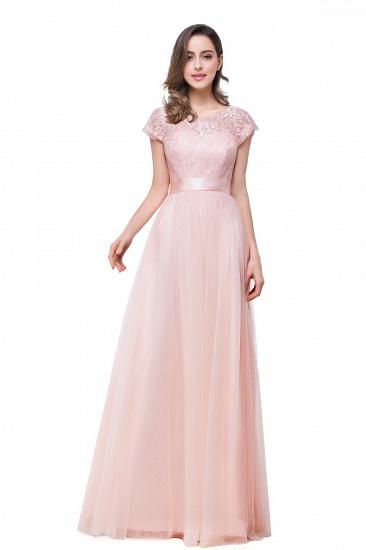 BMbridal Short Sleeve Long Lace Bridesmaid Dresses_11