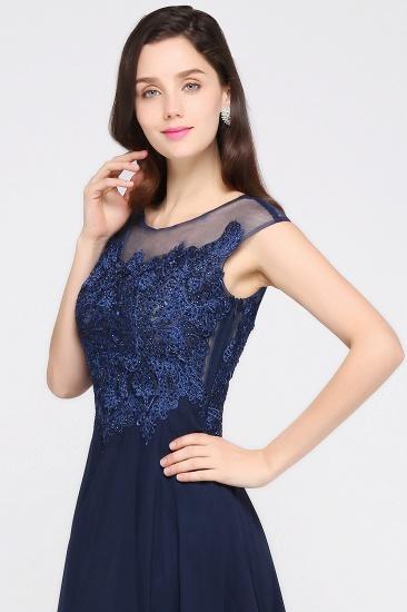 BMbridal Cap Sleeve Lace Appliques Long Chiffon Evening Dress_3