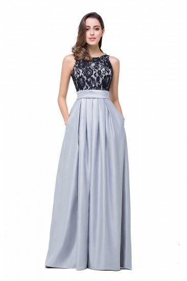 BMbridal Simple A-line Crew Chiffon Open Back Lace Bridesmaid Dress_8