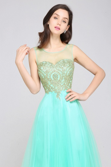 BMbridal Gorgeous Illussion Scoop Long Prom Dress With Lace Appliques_11