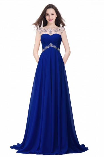 BMbridal A-line Sweetheart Chiffon Evening Dress With Crystal_3
