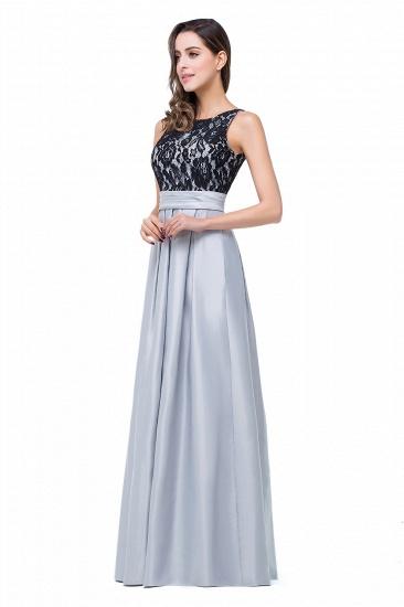 BMbridal Simple A-line Crew Chiffon Open Back Lace Bridesmaid Dress_5