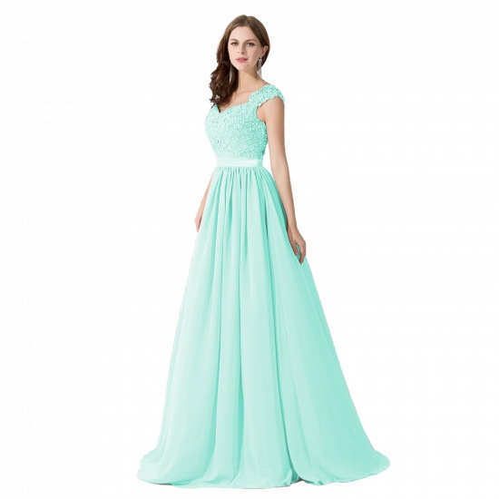 BMbridal A-line V Neck Chiffon Bridesmaid Dress with Appliques_8