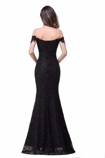 Off-the-Shoulder Lace Mermaid Prom Dress Long Evening Party Gowns Online_11