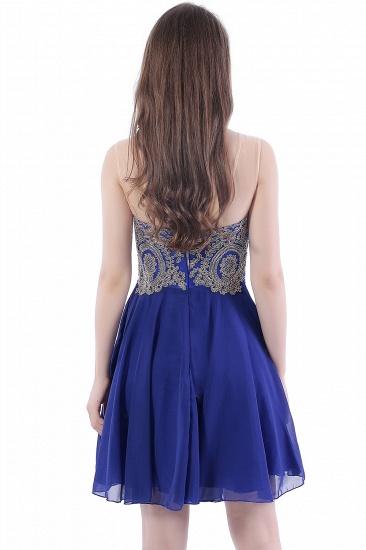 BMbridal Lace Chiffon Applique Short Prom Dress_3