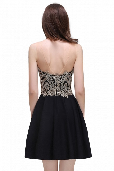 BMbridal Black Short A-line Homecoming Dress_7