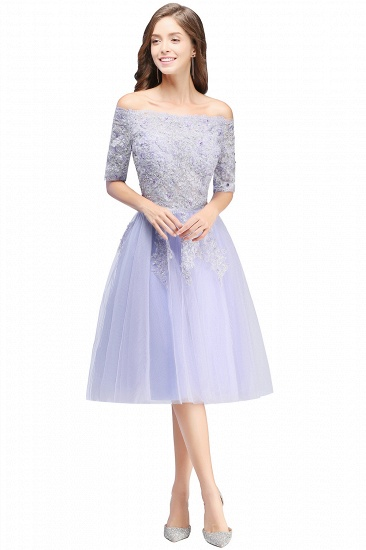 BMbridal A-line Short Sleeves Tulle Lace Flower Girl Dress_4