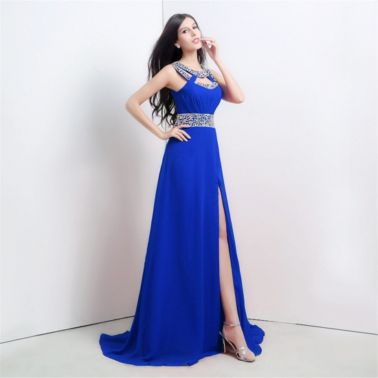 BMbridal A-line Halter Chiffon Party Dress With Crystal_2