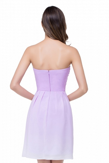 BMbridal A-line Strapless Chiffon Bridesmaid Dress with Draped_3