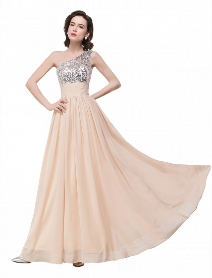 BMbridal A-line Floor-length Chiffon Evening Dress with Sequined_8