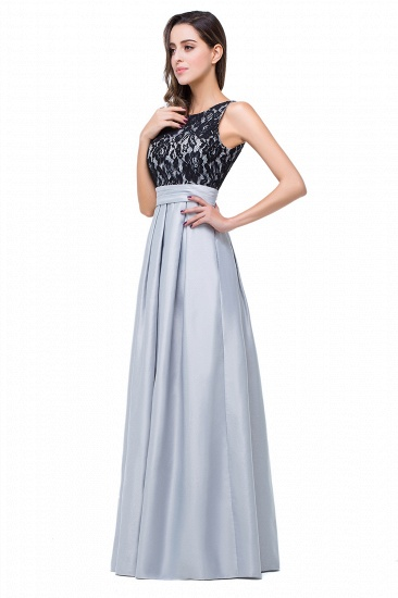 BMbridal Simple A-line Crew Chiffon Open Back Lace Bridesmaid Dress_7