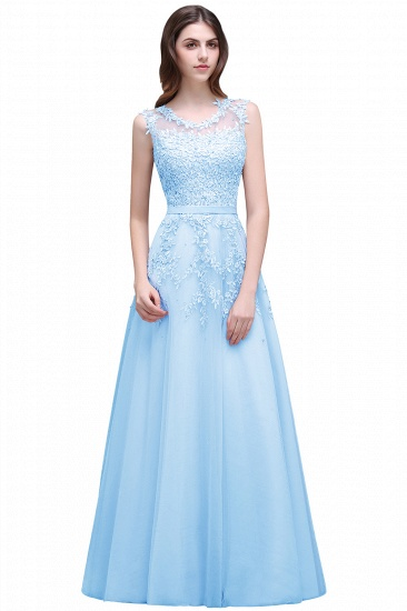 BMbridal A-line Floor-length Tulle Prom Dress with Appliques_5
