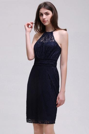 BMbridal Elegant Halter Lace Sheath Short Prom Dress_4