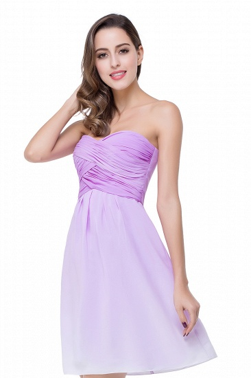 BMbridal A-line Strapless Chiffon Bridesmaid Dress with Draped_7