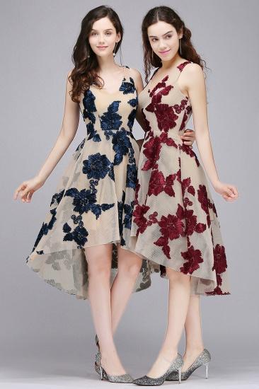 BMbridal Short Appliques Tulle V Neck Prom Dress_7