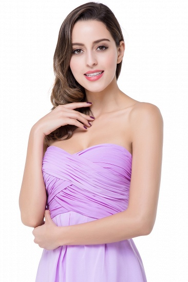 BMbridal A-line Strapless Chiffon Bridesmaid Dress with Draped_11