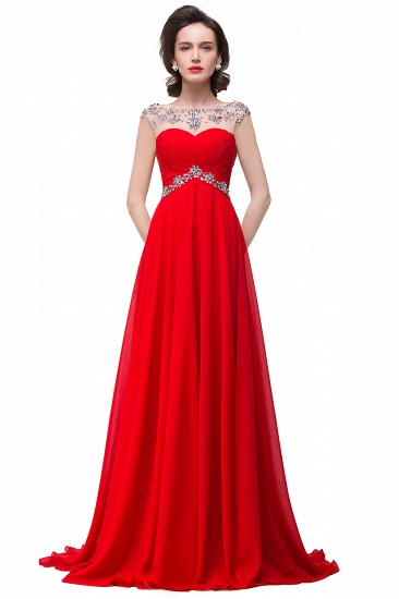 BMbridal A-line Sweetheart Chiffon Evening Dress With Crystal_2
