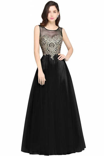 BMbridal Gorgeous Illussion Scoop Long Prom Dress With Lace Appliques_6