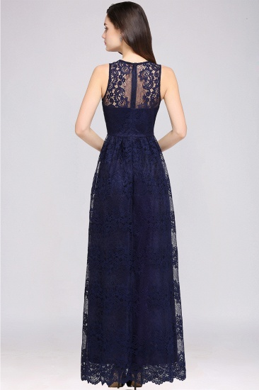 Chic Sheath V-Neck Navy Lace Bridesmaid Dresses Online In Stock_11