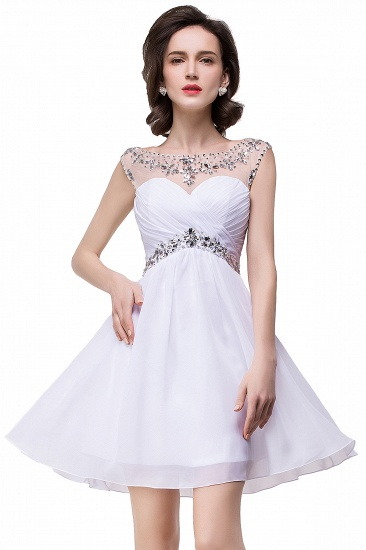 BMbridal A-line Jewel Chiffon Party Dress With Crystal_9