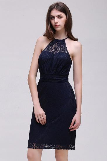 BMbridal Elegant Halter Lace Sheath Short Prom Dress_3