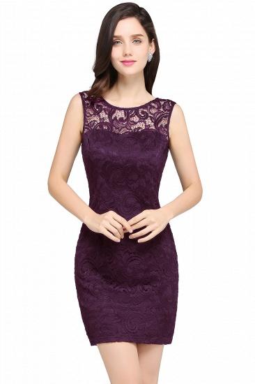 BMbridal Sleeveless Bodycon Black Lace Short Sexy Cocktail Dress_2